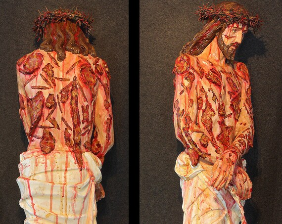 "Scourged Jesus 36"" fiberglass statue Religious Catholic Christian Statues"