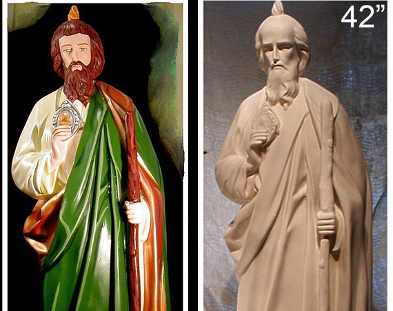 "St. Jude Thaddeus Apostle 42"" fiberglass statue"