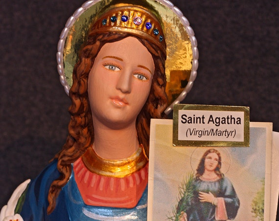 "10% OFF!!! St. Agatha 18"" Saints Religious Catholic Christian Statues"