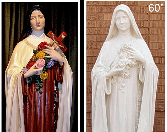 "St. Theresa/Therese of Lisieux 60""  Fiberglass Statue"