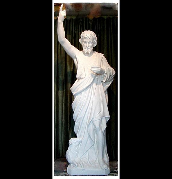"""St. John the Baptist 63"""" (white only) Fiberglass Statue"""