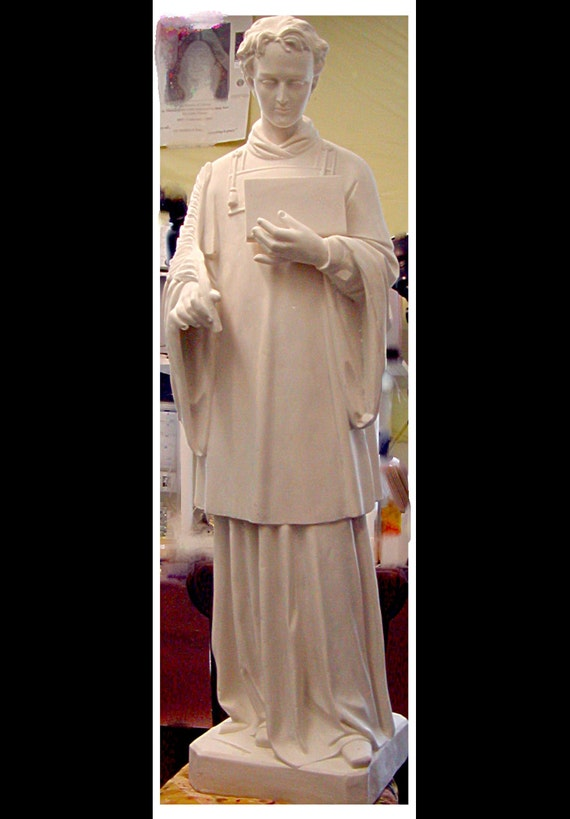 "St. Stephen Martyr or St. Lawrence 50"" Fiberglass Statue (SALE)"