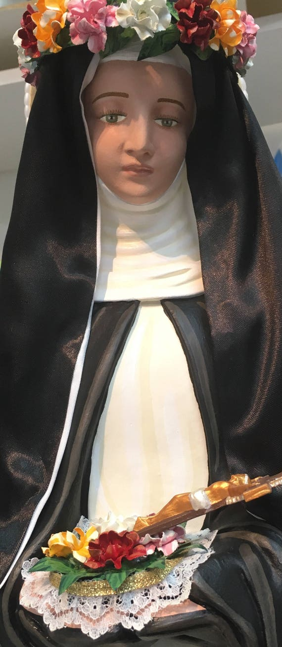 """St. Rose of Lima 26"""" Patronage: Those who suffer ridicule for their piety, and people who suffer family problems."""