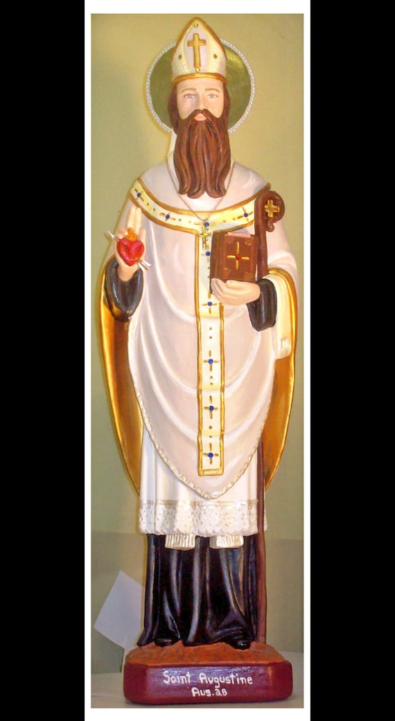 """St. Augustine 25"""" Patron of Conversions"""