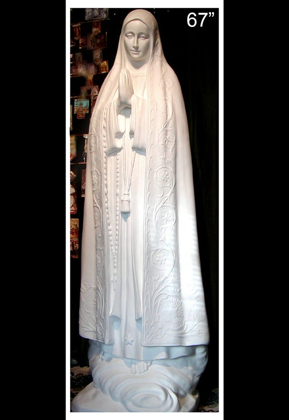 "Our Lady of Fatima 67"" fiberglass statue"