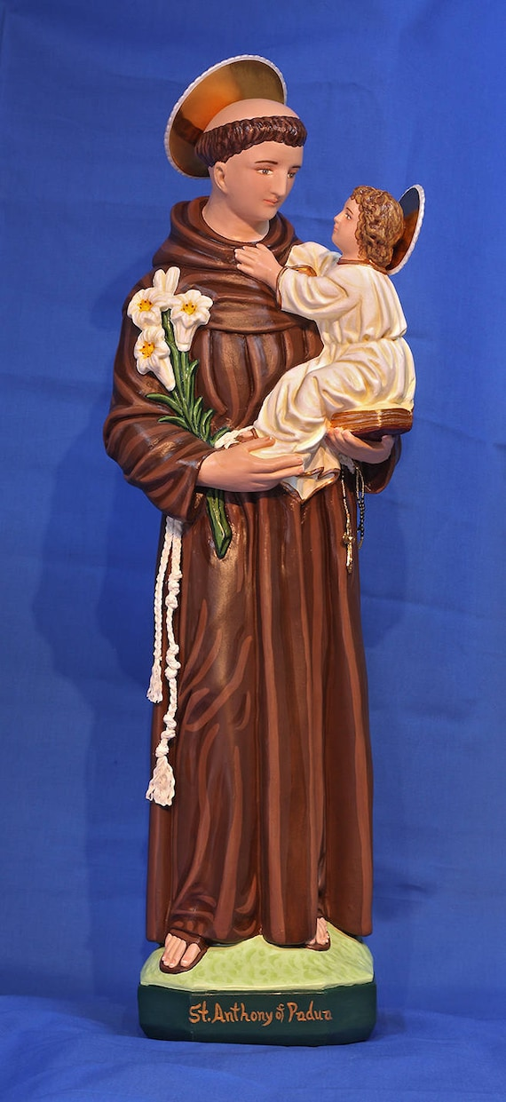 """St. Anthony of Padua 26"""" Patron Saint of Lost Articles and Lost Souls"""