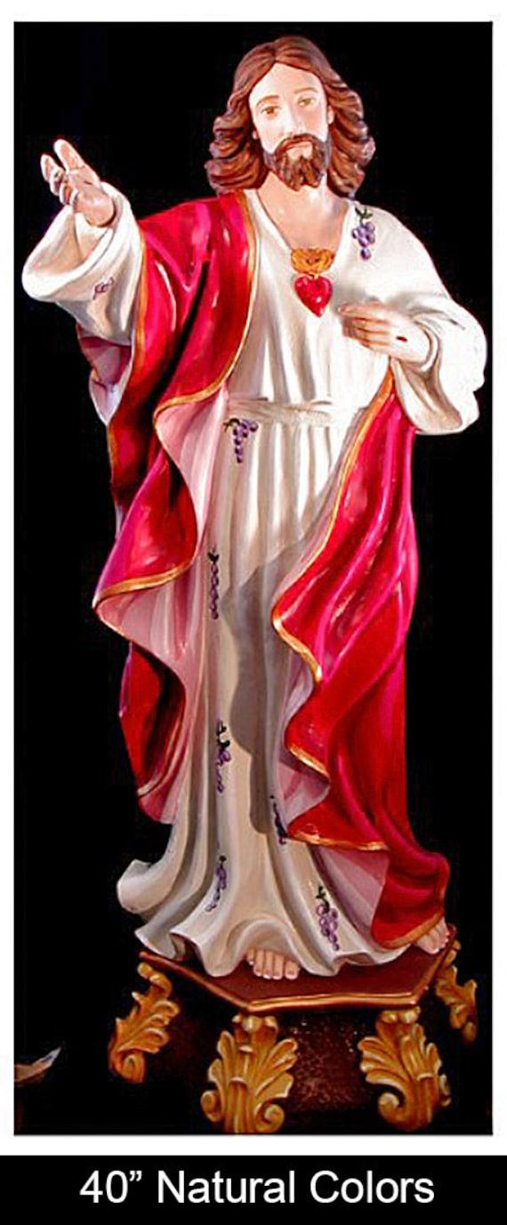 "Sacred Heart of Jesus 40"" Fiberglass statue"