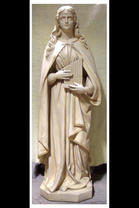 "St. Cecilia Fiberglass 61"" fiberglass statue (sale)"