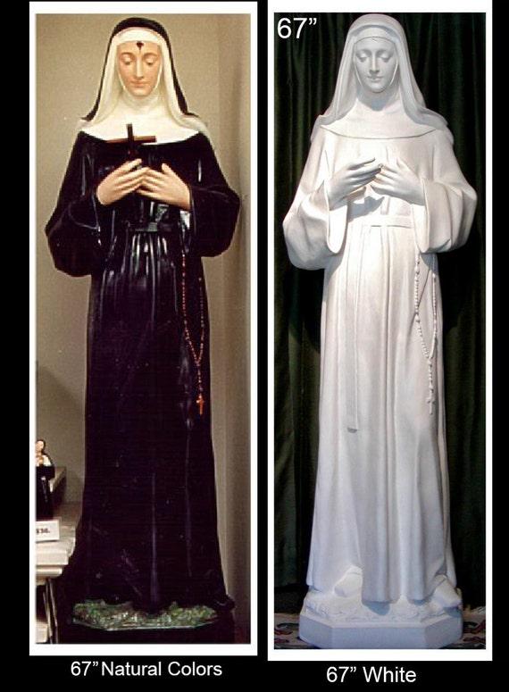 """St. Rita of Cascia 67"""" Fiberglass Statue"""