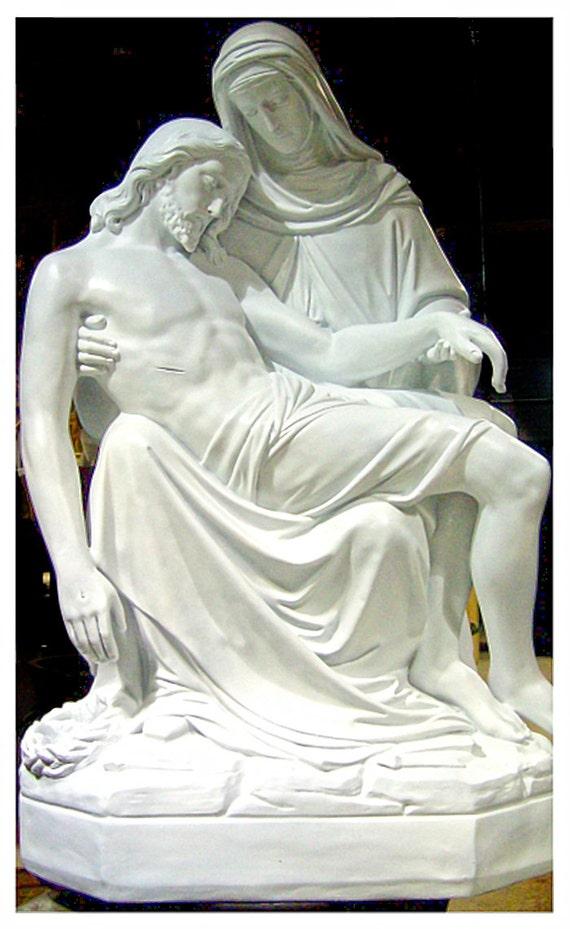 "Pieta 56"" Fiberglass Statue"