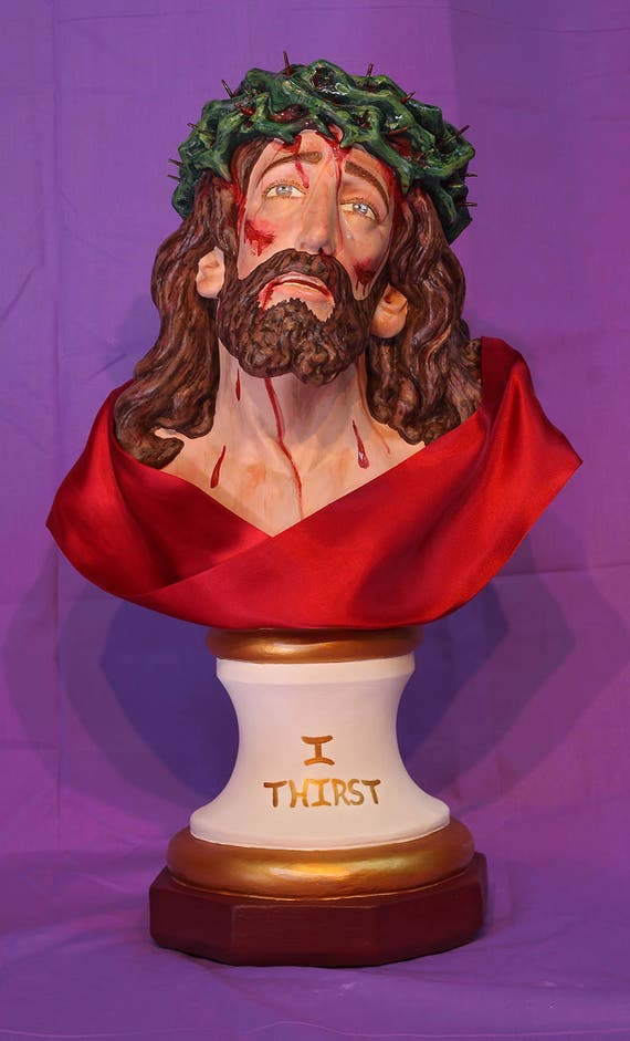 """Holy Face of Jesus Bust 19"""" Passion of Christ"""