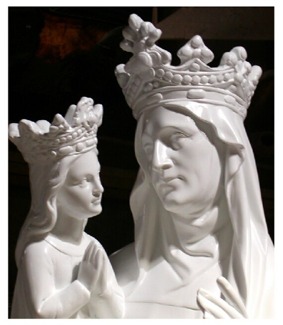 """St. Anne with the Child Mary 60"""" Fiberglass Statue (SALE)"""