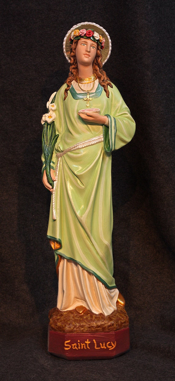 """St. Lucy 18"""" Patron Saint of Eye Afflictions"""