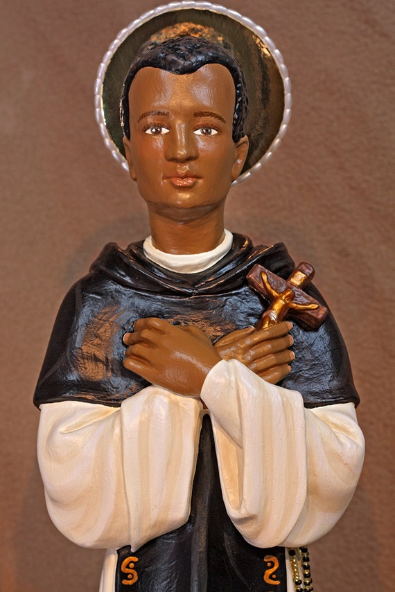 """St. Martin de Porres 18"""" Patron of Mixed Races and Barbers"""