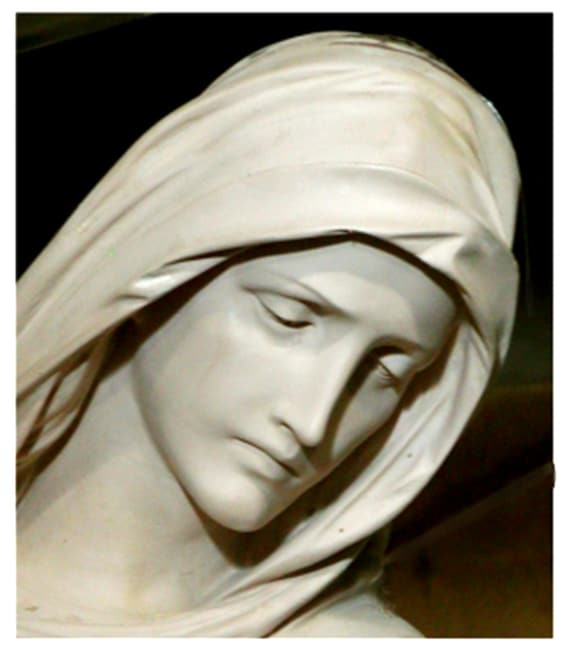 "Mother of Sorrows 72"" Fiberglass Statue"
