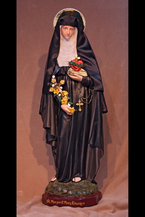 "St. Margaret Mary Alacoque 26"" Patronage: Those Suffering with Polio, Devotees of the Sacred Heart and Loss of Parents"