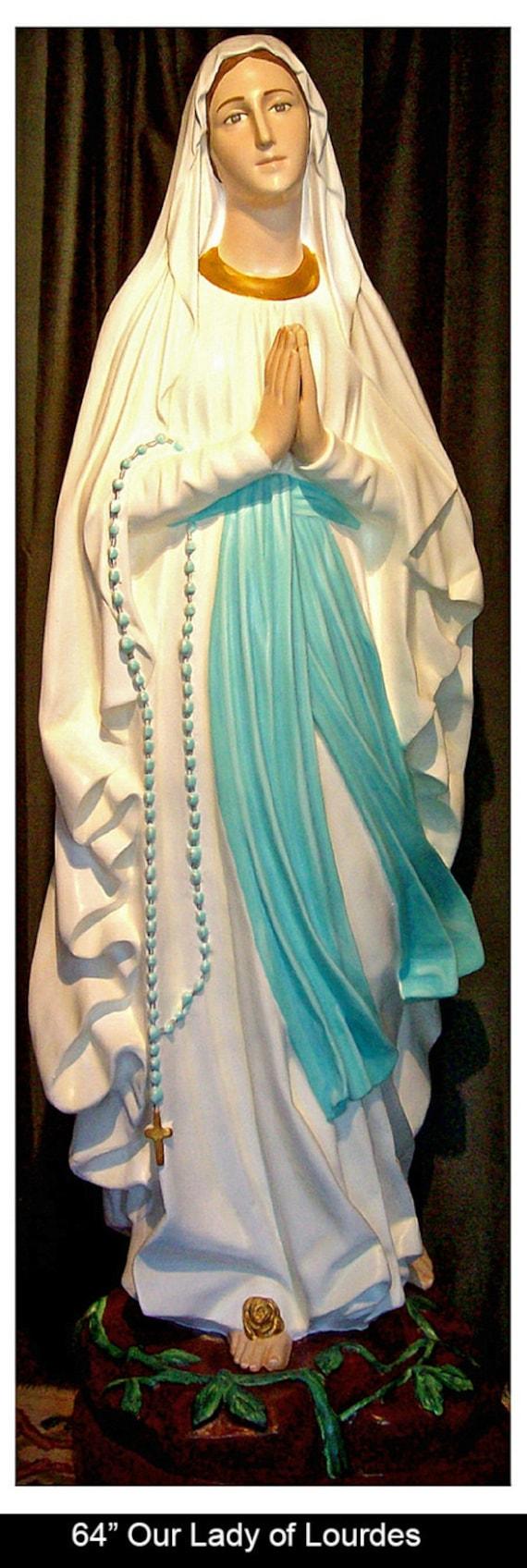 """Our Lady of Lourdes 60"""" Fiberglass Statue (SALE)"""