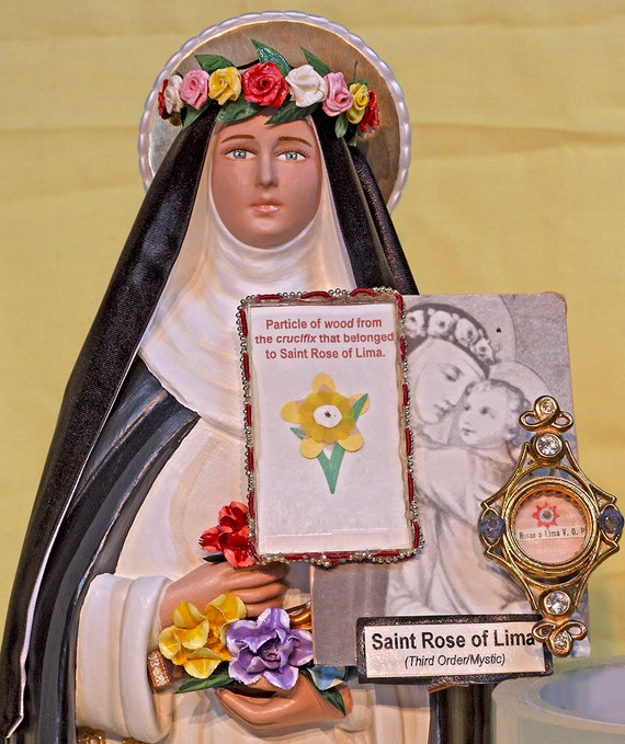 """St. Rose of Lima 18"""" Patron saint of Peru and of all South America"""