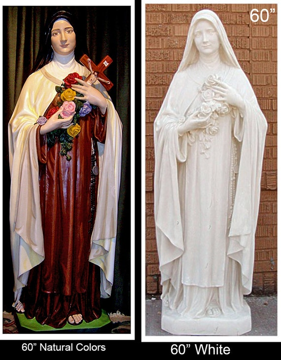 "St. Theresa/Therese of Lisieux 60"" (SALE) Fiberglass Statue (SALE)"