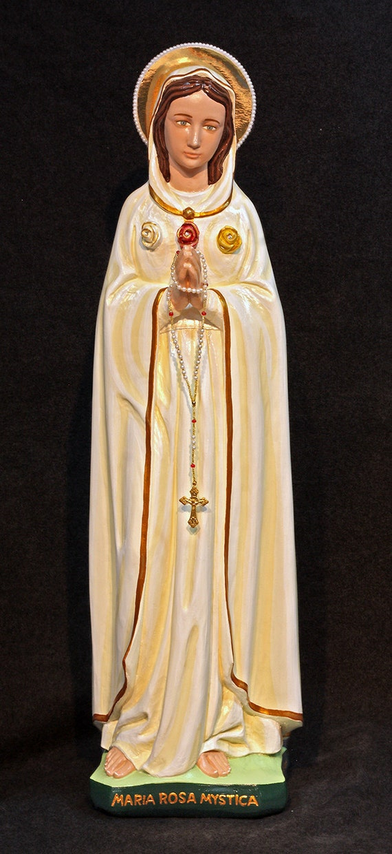 """Rosa Mystica Our Lady Mystical Rose 26"""" Patronage: Faith and Morals"""