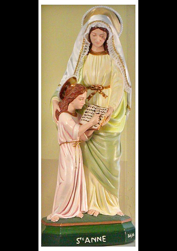 "St. Anne & the Child Mary 18"" Mary Religious Saints Catholic Christian Statues"