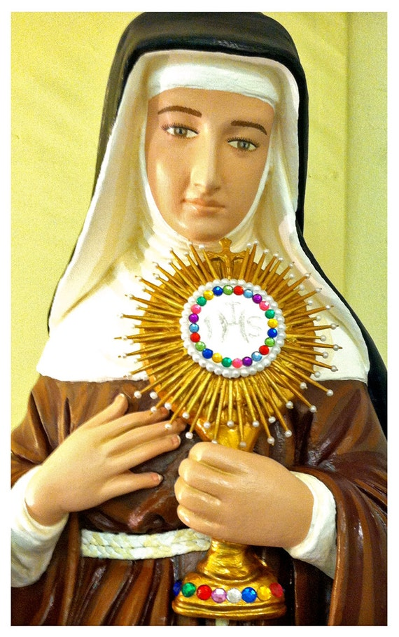 """St. Clare of Assisi 31"""" Catholic Christian Religious Saint Statues"""