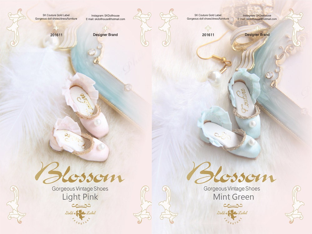 SK Couture Limited Edition Pearl Vintage Shoes for Blythe  f7ae548f1a0