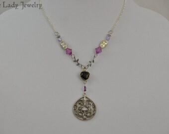 Fairy Queen Necklace - woodland, fantasy, purple, elven