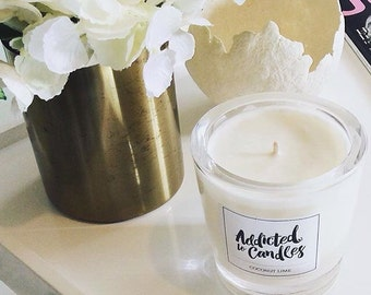 Coconut Lime  Large Soy Candle