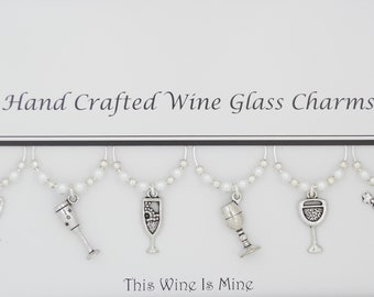 This Wine is Mine Set of 6 Handmade Wine Glass Charms