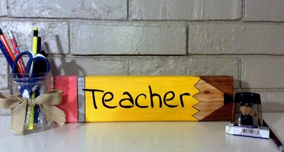 Planche de nom enseignant, bureau signe, professeur personnalisé nom, en signe de l'école, cadeau de professeur