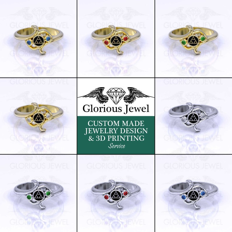 Zelda ring Legend of Zelda hyrule warriors Triforce ring Engagement ring Unique ring gold ring Silver ring Custom made Breath of the wild