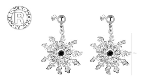 Nature and elegant mother/'s gift Girlfriend Jewelry Gift EG-1011 Eguzkilore silver Cluster Earrings for mom Flower Nut Earrings