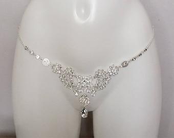2e62b69552f93 Sexy chain set with rhinestones crystals