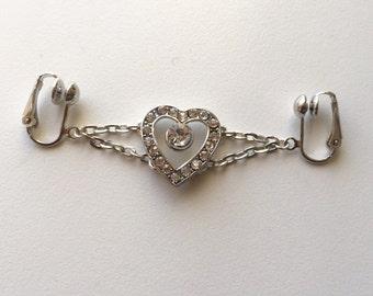 Non piercing labia clip, clit clip, intimate jewellery, body jewelry, intimate dangle, sexy labia adornment, body embellishment