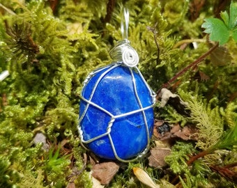 Lapis Lazuli Royal Blue Pendant Necklace for Finding Your Voice and Expressing Your Deepest Truth
