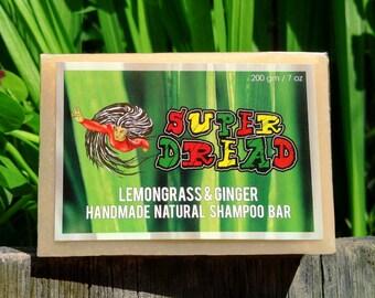 200g/7oz Super Dread Lemongrass and Ginger Dreadlock Shampoo Bar
