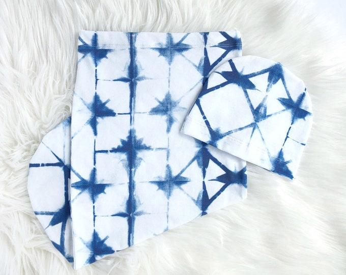 Blue tie dye // Swaddle set
