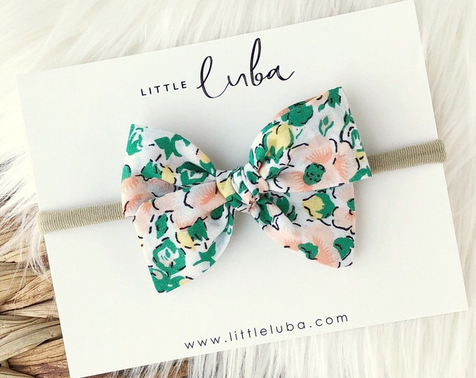 Green floral  // Sailor bow