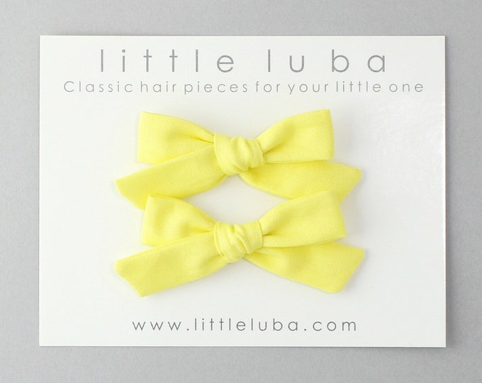 Yellow Schoolgirl Bow // Pigtails