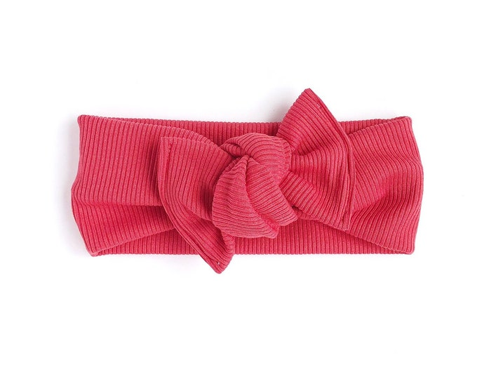 Red rib // Headwrap