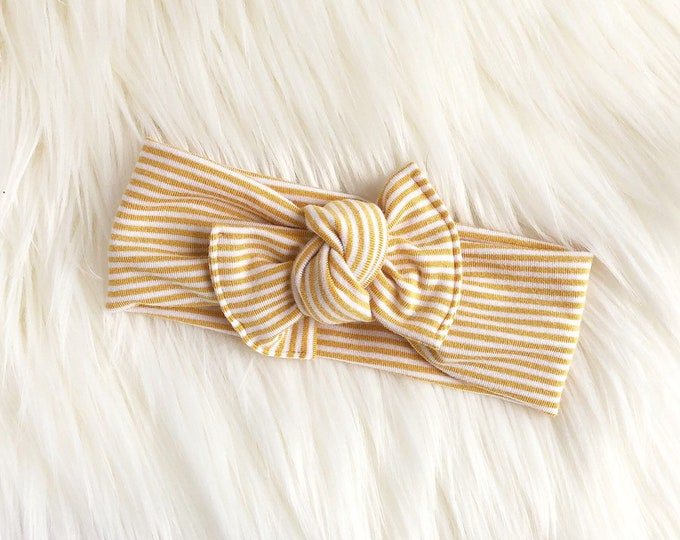 Mini mustard stripe  // Tie-on
