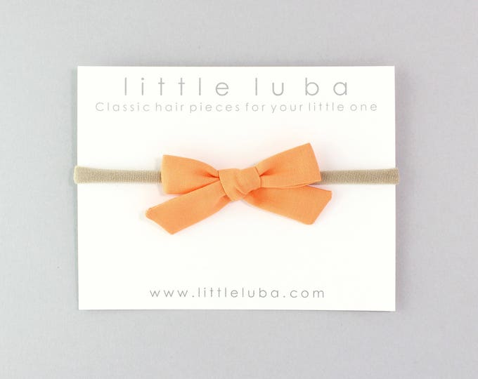 Orange // Schoolgirl Bow
