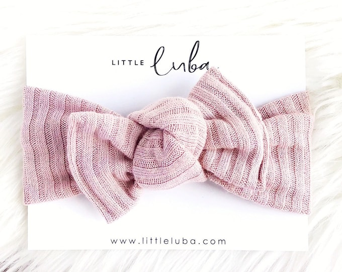 Faded blush rib Tie-on