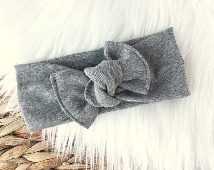 Heather grey // Tie on