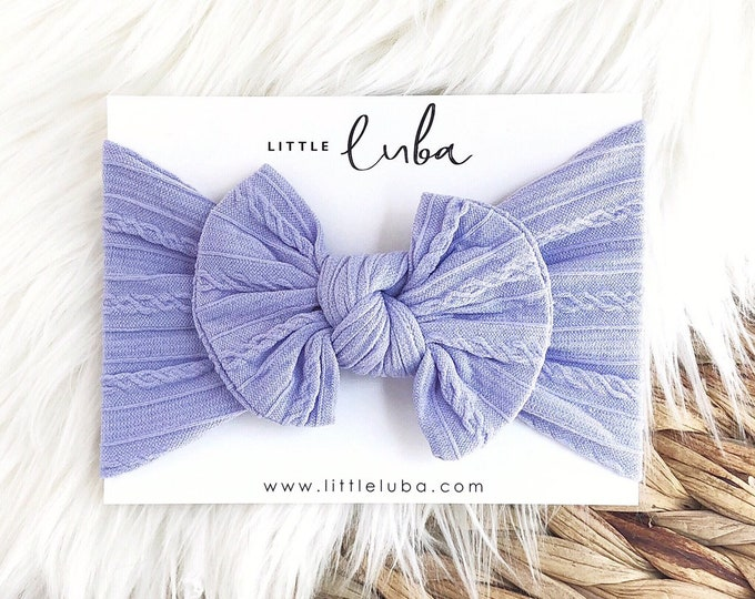 Cable knit // Periwinkle