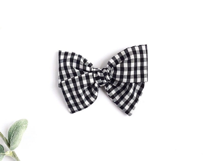 Black plaid // Sailor bow