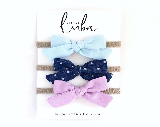 Set of 3 // Schoolgirl bows