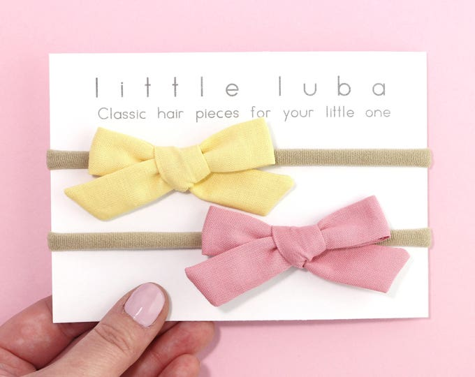 Set of 2 // Mustard + Wood rose