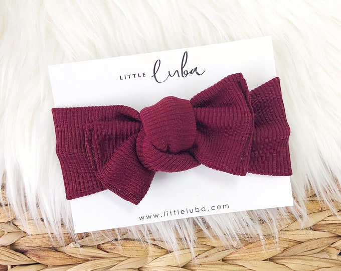 Cranberry Rib // Tie on headwrap